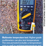 Multimeter temperature test