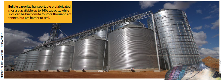 Built to capacity: Transportable prefabricated silos are available up to 140t capacity, while silos can be built onsite to store thousands of tonnes, but are harder to seal.