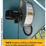 Cool it: aeration cooling is relatively cheap and can offer substantial benefits.