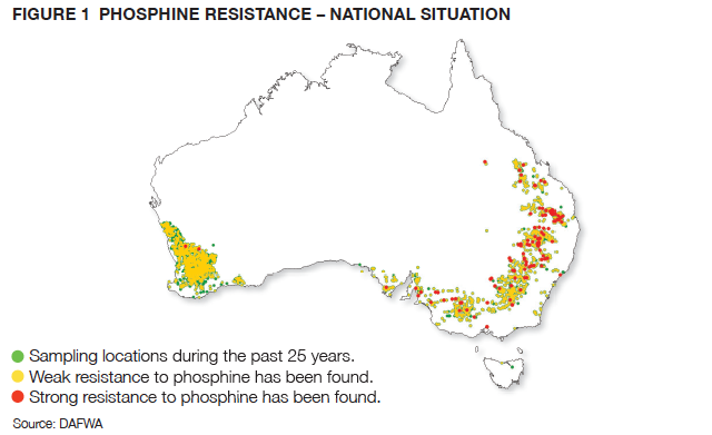 PHOSPHINE RESISTANCE – NATIONAL SITUATION