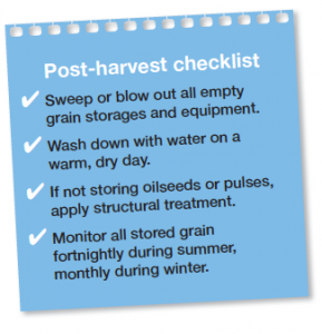Post Harvest Checklist