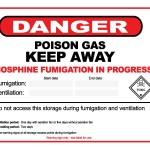 Stored Grain phosphine warning