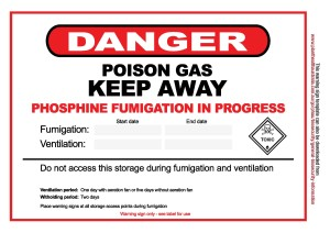 Stored Grain phosphine warning