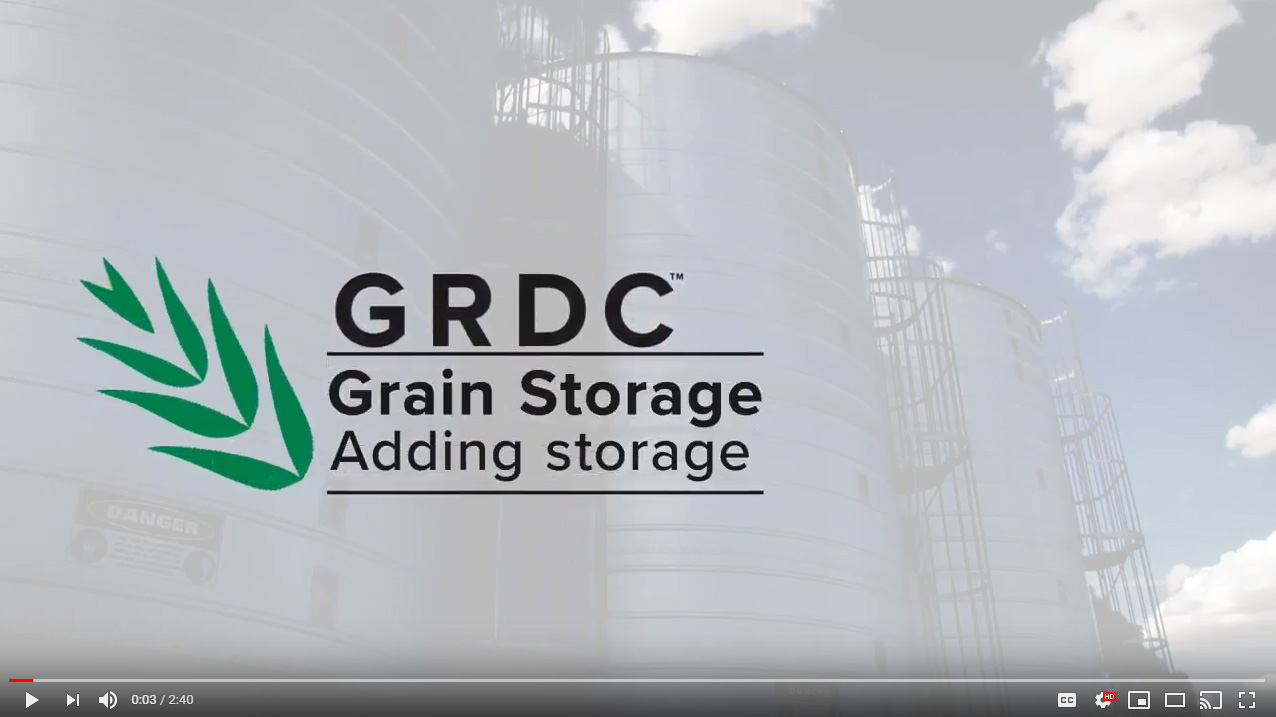 Stored Grain adding storage video