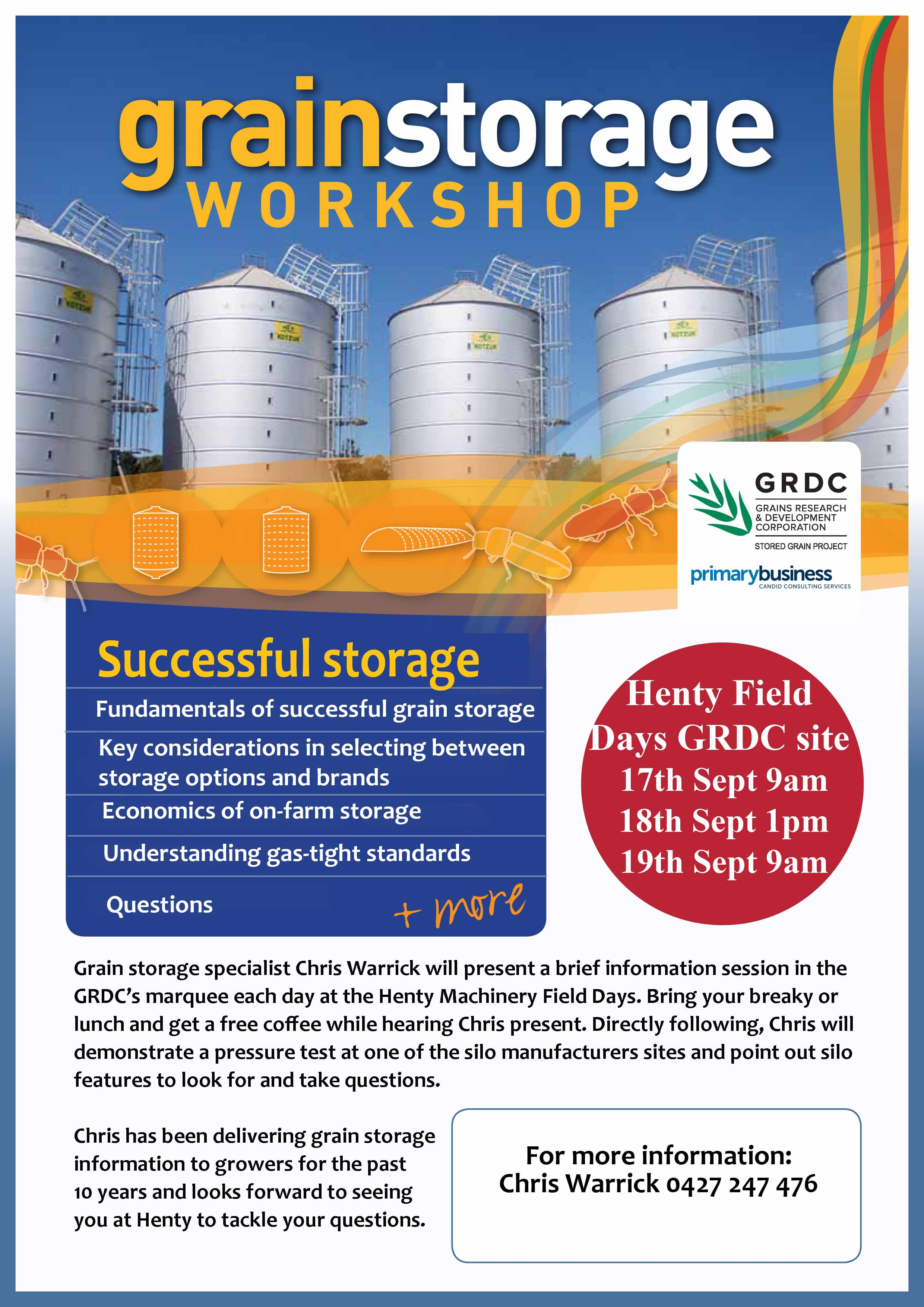 Grain Storage Flyer Henty