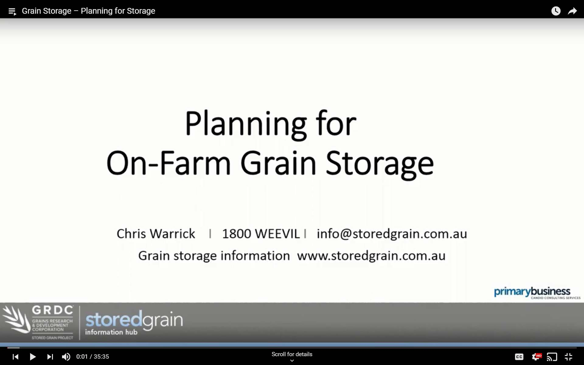 Grain Storage Planning webinar thumb