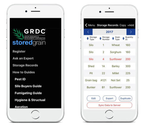 Stored Grain App Screenshot 1